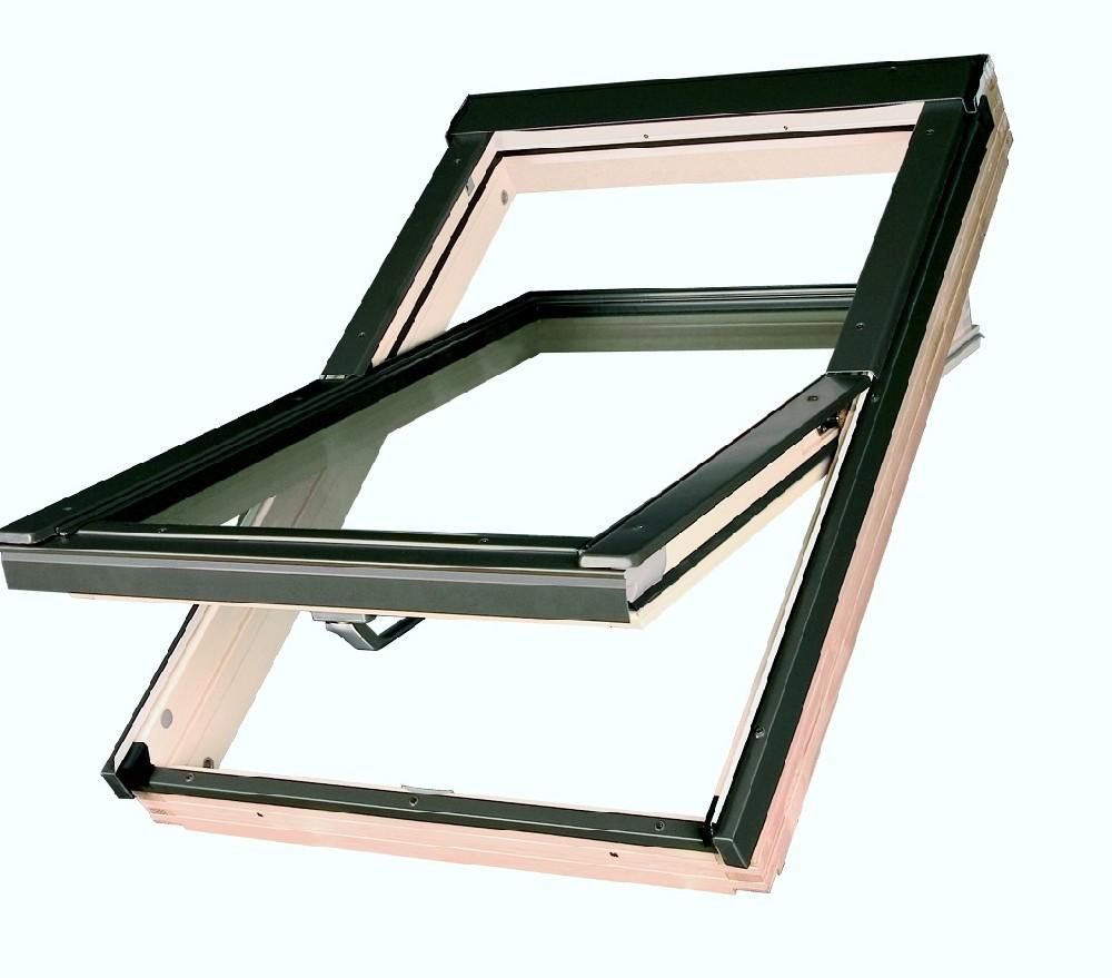 Střešní okno dřevěné kyvné FAKRO FTS U2 78x118