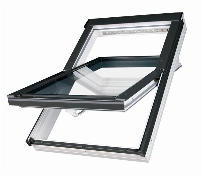 Střešní okno plastové bílé FAKRO PTP-V U3 78x160
