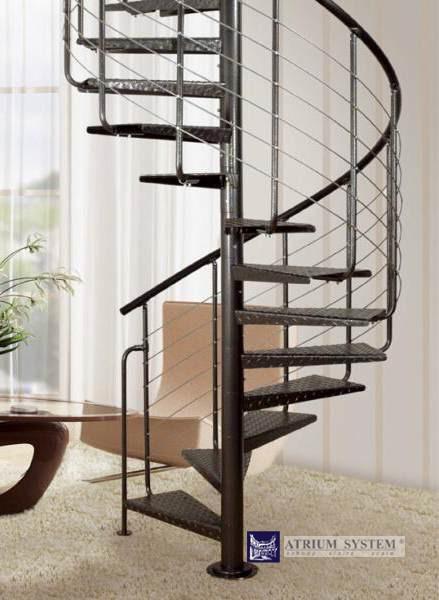 Ocelové schodiště HEAVY METAL- průměr 119cm