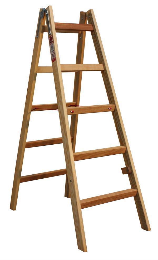 Štafle dřevěné JUMBO 2x5 stupně