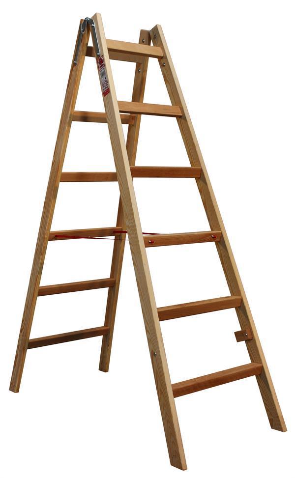 Štafle dřevěné JUMBO 2x6 stupně