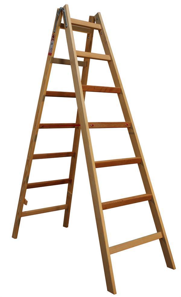 Štafle dřevěné JUMBO 2x7 stupně