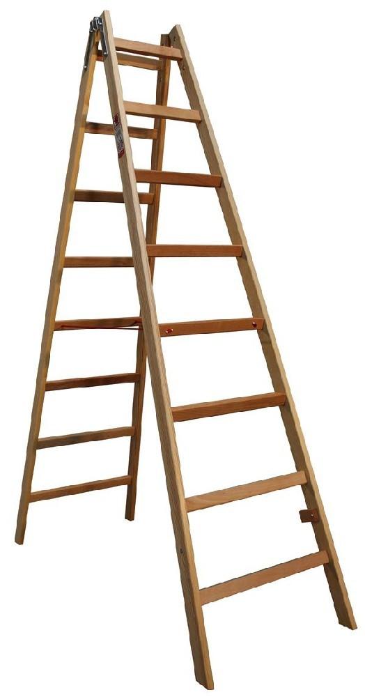 Štafle dřevěné JUMBO 2x8 stupně