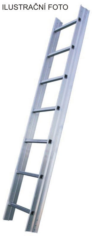 Žebřík hliníkový střešní JUMBO 17 stupně - délka 5m