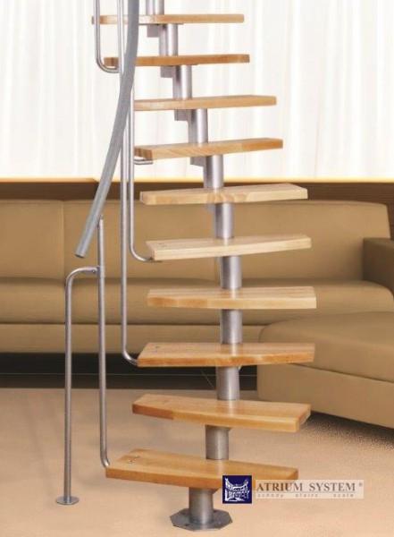 Půdní mlynářské schody MINI PLUS LH do 230 cm - Olše