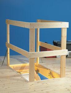 Horní ochranné zábradlí pro půdní schody DOLLE