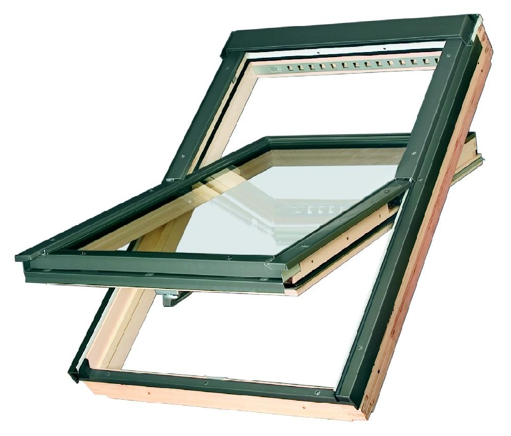 Střešní okno dřevěné kyvné FAKRO FTP-V U3 55x78