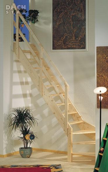 Mlynářské schody DOLLE NORMANDIA o 1/4 zatočené