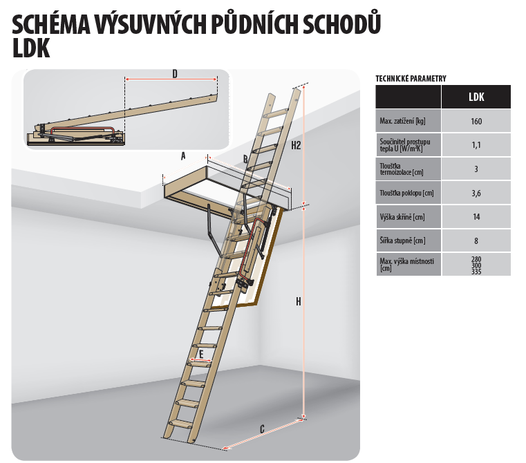 Výsledek obrázku pro výsuvné schody